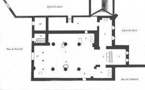 Plan de l'église de 1777