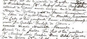 Baptême des cloches dans les registres paroissiaux (Archives municipales)