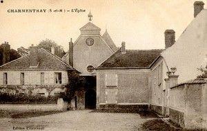 carte postale de l'église vers 1900
