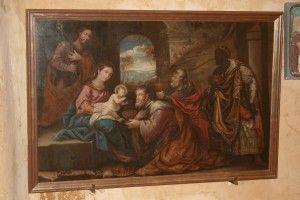 Toile peinte du 17ème siècle. (Photo MM)