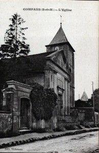 Carte postale ancienne de l'église