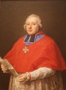 Cardinal Etienne-René Potier de Gesvres en 1758