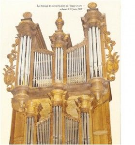 Orgue de l'église reconstruit en 2007