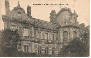 Façade postérieure vers 1908